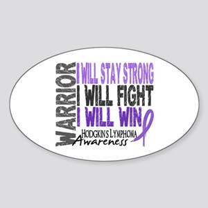 Hodgkin's Lymphoma Warrior Sticker (Oval)