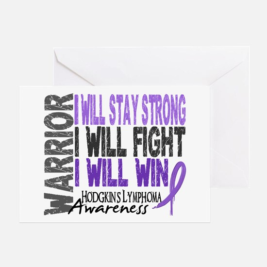 Hodgkin's Lymphoma Warrior Greeting Card