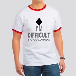 I'm Difficult Ski Colorado Ringer T