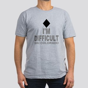 I'm Difficult Ski Colorado Men's Fitted T-Shirt (d