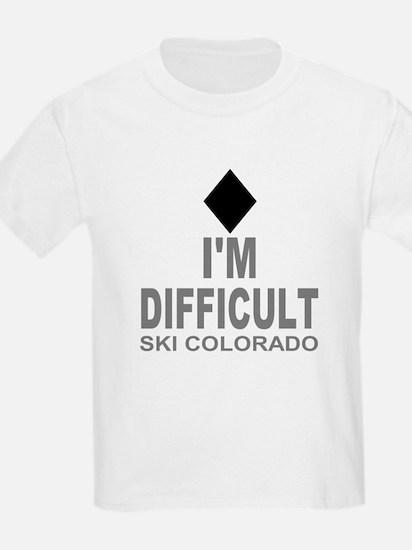 I'm Difficult Ski Colorado T-Shirt