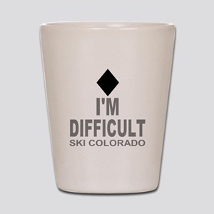 I'm Difficult Ski Colorado Shot Glass