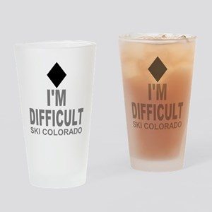 I'm Difficult Ski Colorado Drinking Glass