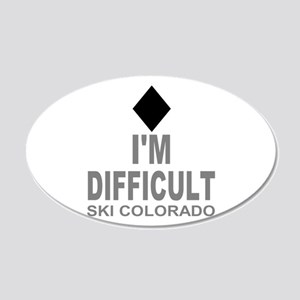 I'm Difficult Ski Colorado 20x12 Oval Wall Decal