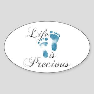 Life Is Precious Sticker (Oval)