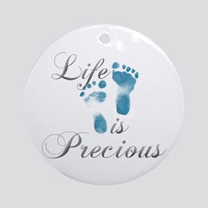Life Is Precious Ornament (Round)