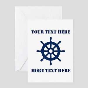 Custom Nautical Theme Greeting Cards For Sailor