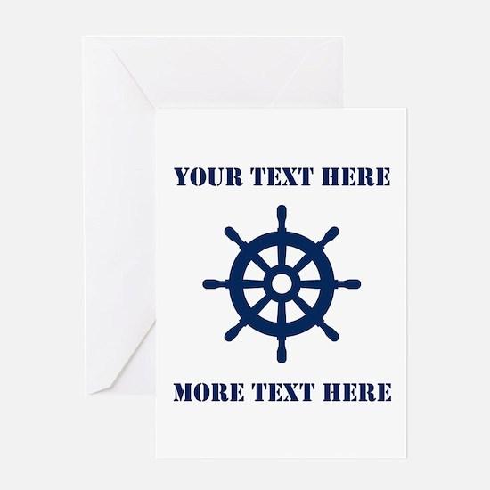 Custom Nautical Theme Greeting Cards For Sailor