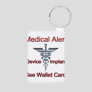 Medical Alert - Medical Impl Aluminum Photo Keycha