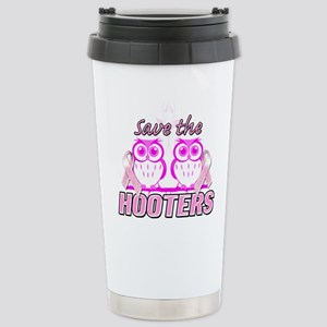 Save The Hooters Stainless Steel Travel Mug
