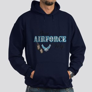 Proud Air Force Wife Hoodie (dark)