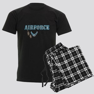 Proud Air Force Wife Men's Dark Pajamas