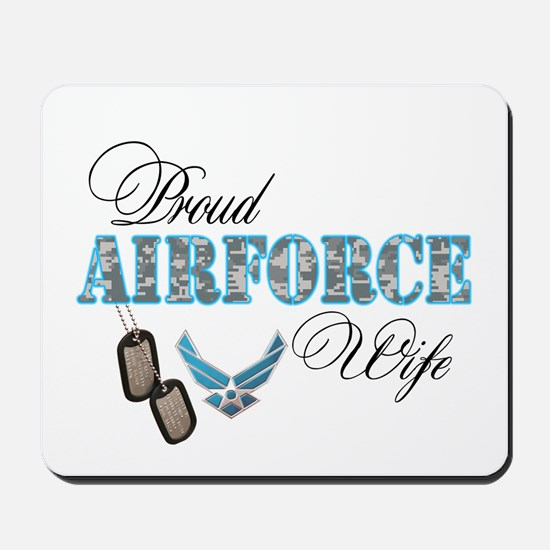 Proud Air Force Wife Mousepad