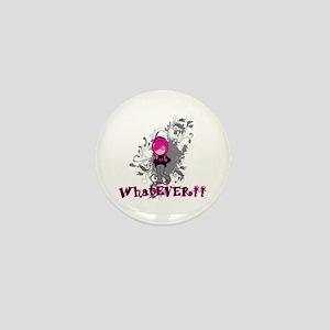 attitude whatever emo girl vector art Mini Button