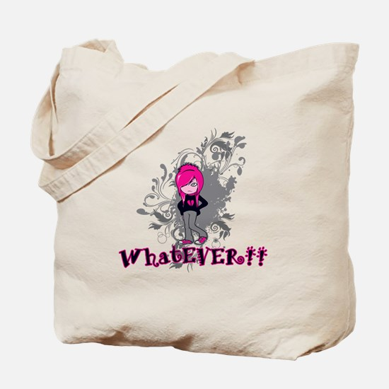 attitude whatever emo girl vector art Tote Bag