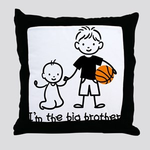 Big Brother - Stick Character Throw Pillow