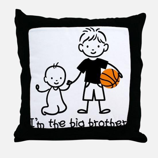 Big Brother - Stick Character Throw Pillow