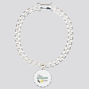 Proud Marine Girlfriend Charm Bracelet, One Charm