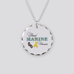 Proud Marine Fiancee Necklace Circle Charm