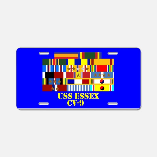 USS Essex CV-9 Aluminum License Plate