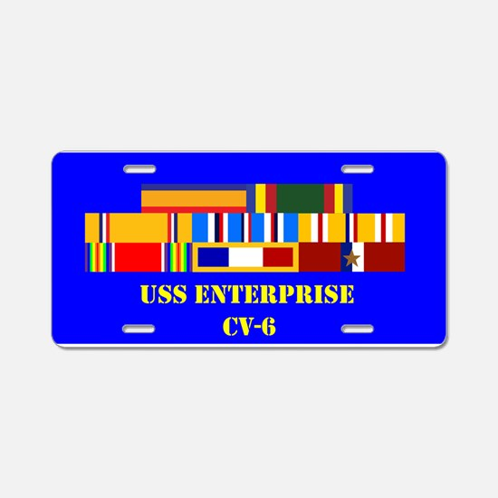 USS Enterprise CV-6 Aluminum License Plate