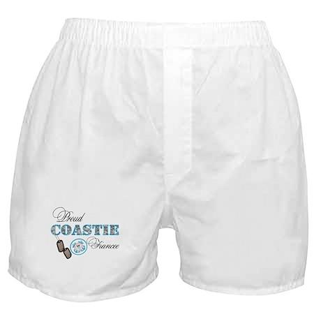 Proud Coast Guard Fiancee Boxer Shorts
