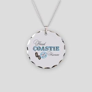 Proud Coast Guard Fiancee Necklace Circle Charm
