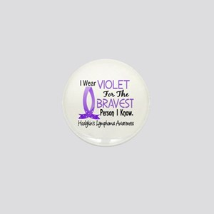 Bravest I Know Hodgkin's Lymphoma Mini Button