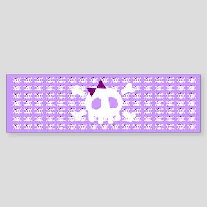 Lilac Skull Sticker (Bumper)