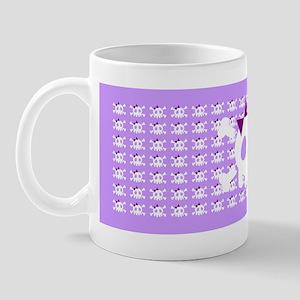 Lilac Skull Mug