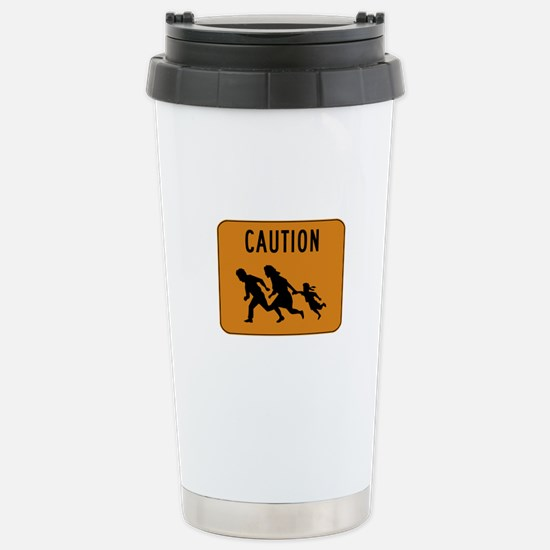 Immigrant Crossing Sign Stainless Steel Travel Mug