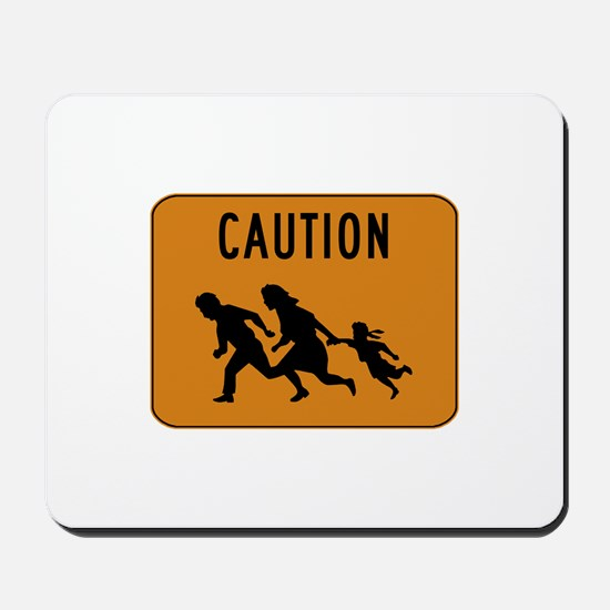 Immigrant Crossing Sign Mousepad