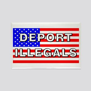 Deport Illegals Rectangle Magnet
