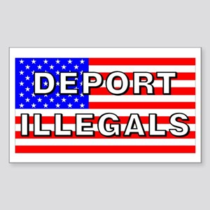 Deport Illegals Rectangle Sticker