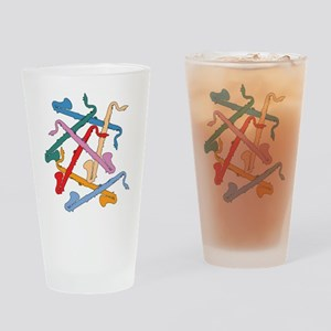 Colorful Bass Clarinet Pint Glass