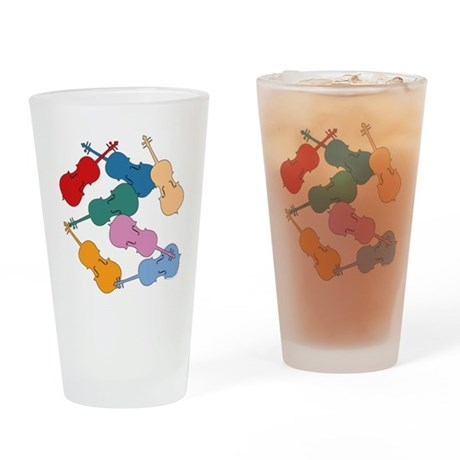 Colorful Cellos - Pint Glass