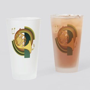 French Horn Deco Pint Glass
