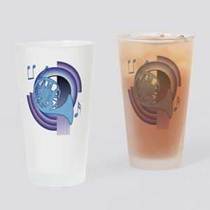 French Horn Deco2 Pint Glass