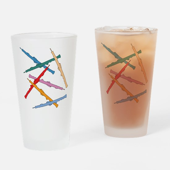 Colorful Oboes Pint Glass