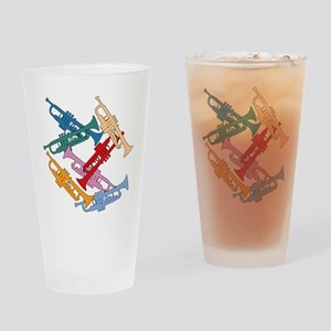 Colorful Trumpets Pint Glass
