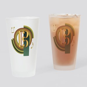 Alto/Tenor Clef Deco Pint Glass