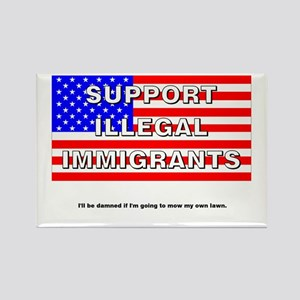 Support Illegals Rectangle Magnet