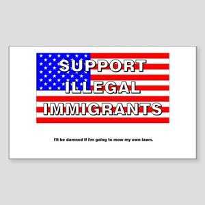 Support Illegals Rectangle Sticker