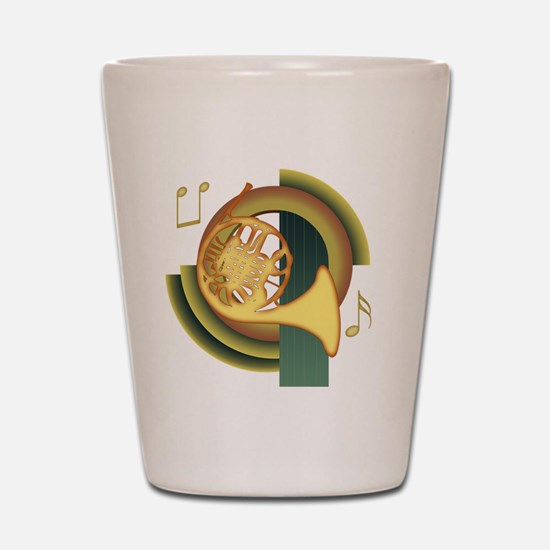 French Horn Deco Shot Glass