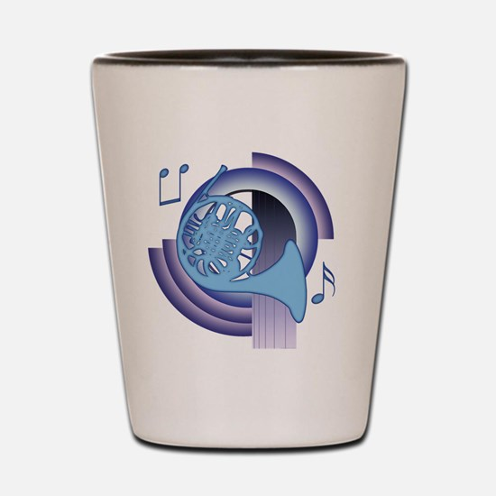 French Horn Deco2 Shot Glass