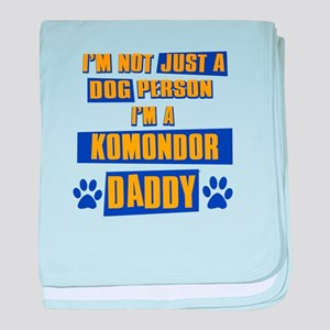 Komondor Daddy baby blanket