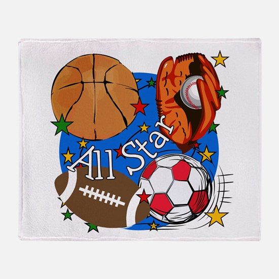 All Star Sports Throw Blanket