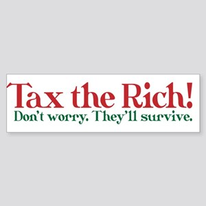 Tax the Filthy Rich Sticker (Bumper)
