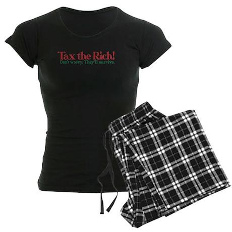 Tax the Filthy Rich Women's Dark Pajamas