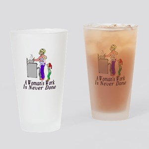 A Woman's Work Pint Glass
